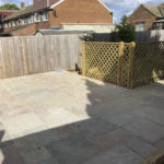 Patio and fencing