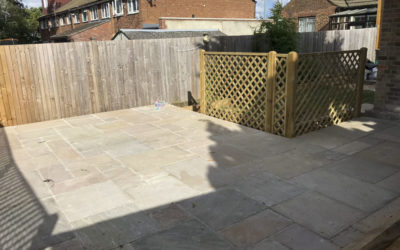 Patio and fencing, Dartford