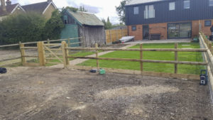 Garden post and rail