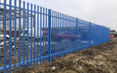 Palisade security fencing installation, Canvey island