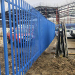 Palisade security fencing installation