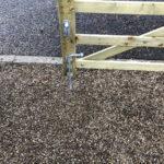 Oak Gate fencing installation