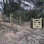 Rustic post and rail installation Heathfield East Sussex 2