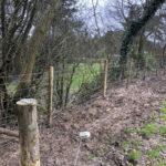 Rustic post and rail installation Heathfield East Sussex 3