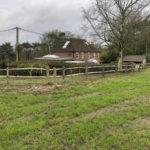 Rustic post and rail installation Heathfield East Sussex 6