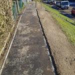 Tarmac path installation