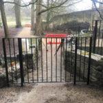 Wrought iron gates and railings