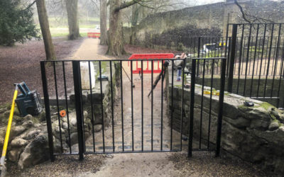 Wrought iron gates and railings , Kearsney Abbey Dover